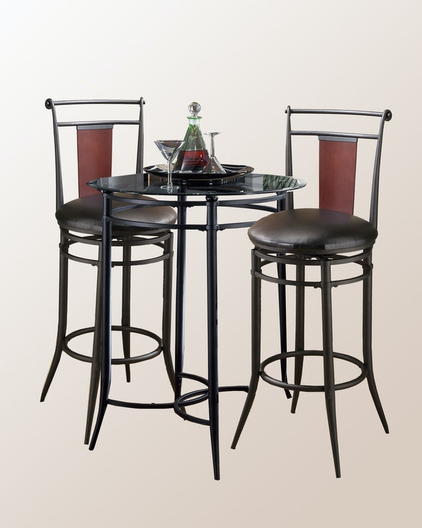 Wondrous Hillsdale Furniture Bar And Game Room Midtown 3 Piece Bistro Gmtry Best Dining Table And Chair Ideas Images Gmtryco