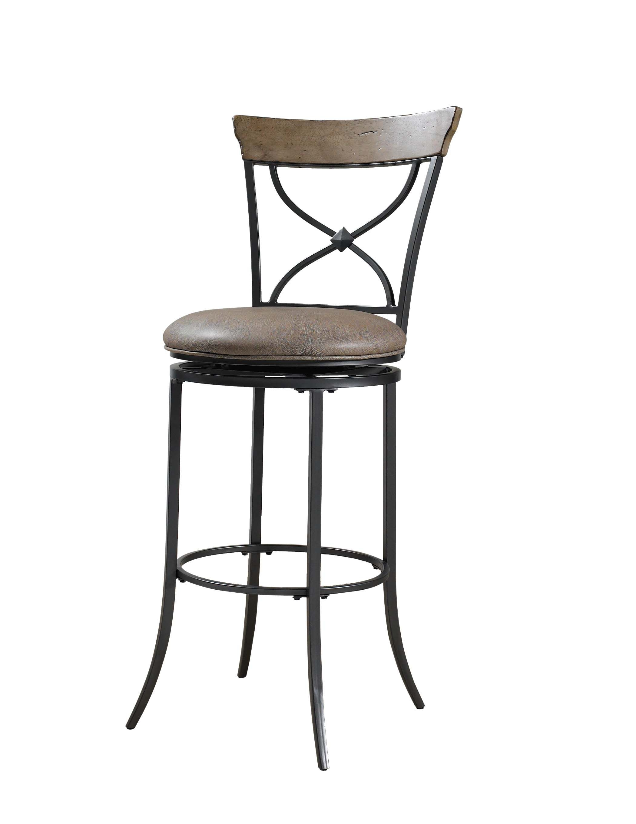 Hillsdale Furniture Charleston Swivel X Back Counter Stool 4670 826
