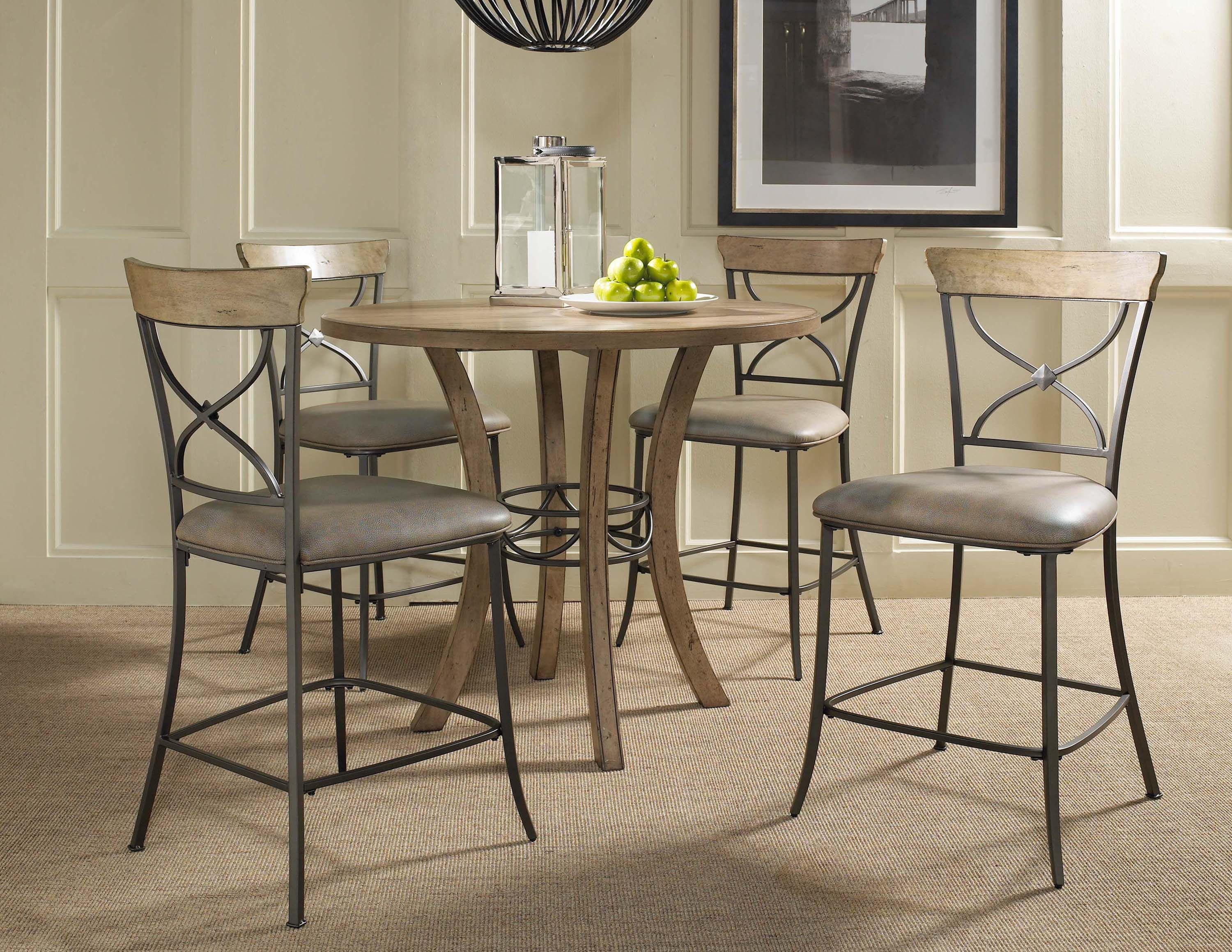 Hillsdale Furniture Charleston Wood Counter Height Round Dining Table   Top  And Legs 4670 837