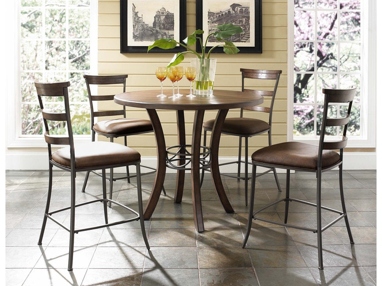 Counter High Round Table.Hillsdale Furniture Bar And Game Room Cameron 5 Piece Counter Height