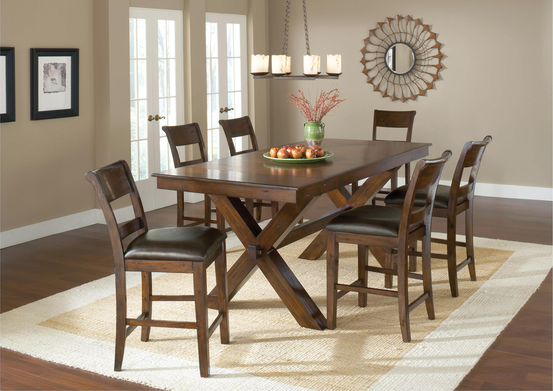 Hillsdale Furniture Park Avenue 7 Piece Counter Height Dining Set 4692CTBC7