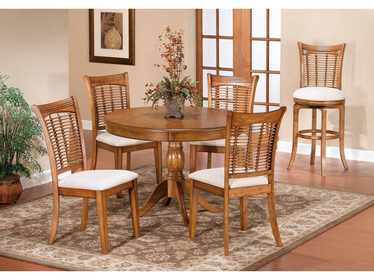 Hilale Furniture Bayberry 44 Round Pedestal Table At Wendell S