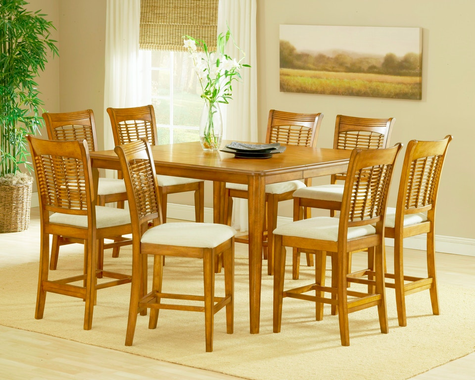 Bayberry 9 -Piece Counter Height Dining Set - Oak