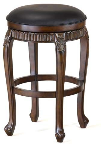 Fleur De Lis Backless Swivel Bar Stool Hil62994