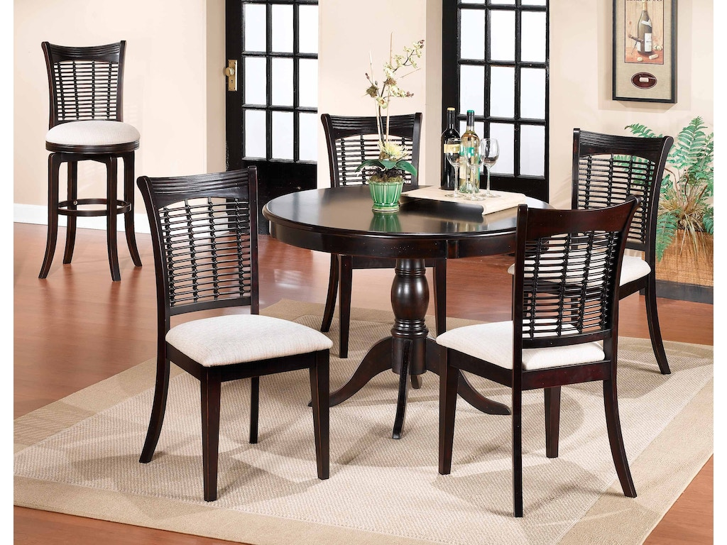 Hillsdale furniture dining room bayberry round table for Furniture kingdom