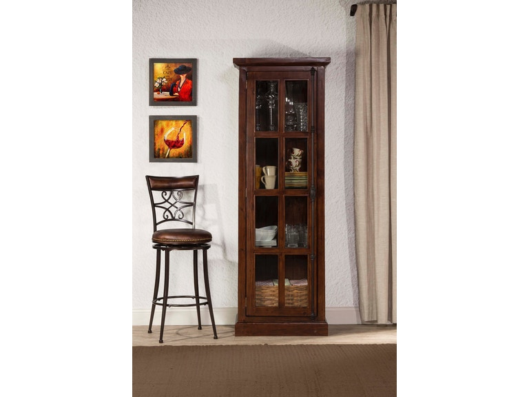 Hilale Furniture Living Room Tuscan Retreat Tall Single Door Cabinet 4793 1064w At Carol House