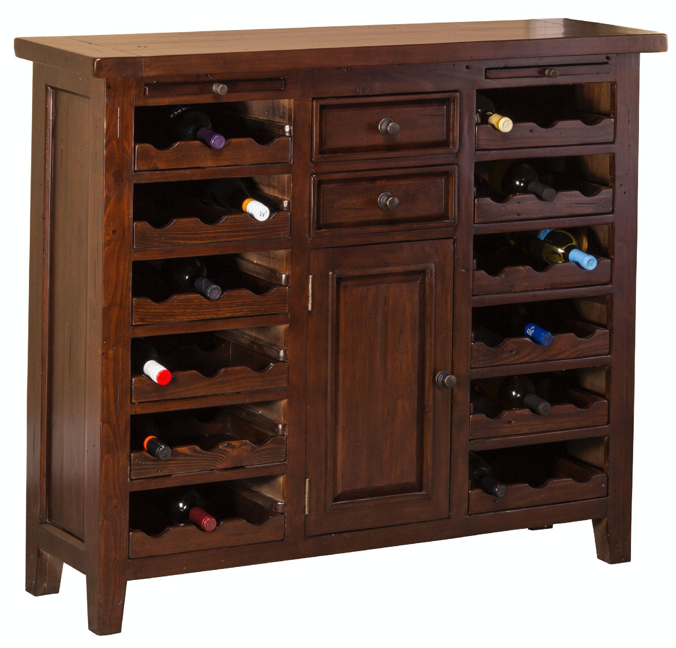 Hillsdale Furniture Tuscan Retreat® Wine Console/Storage Unit 4793-948W  sc 1 st  Winner Furniture & Hillsdale Furniture Bar and Game Room Tuscan Retreat® Wine Console ...
