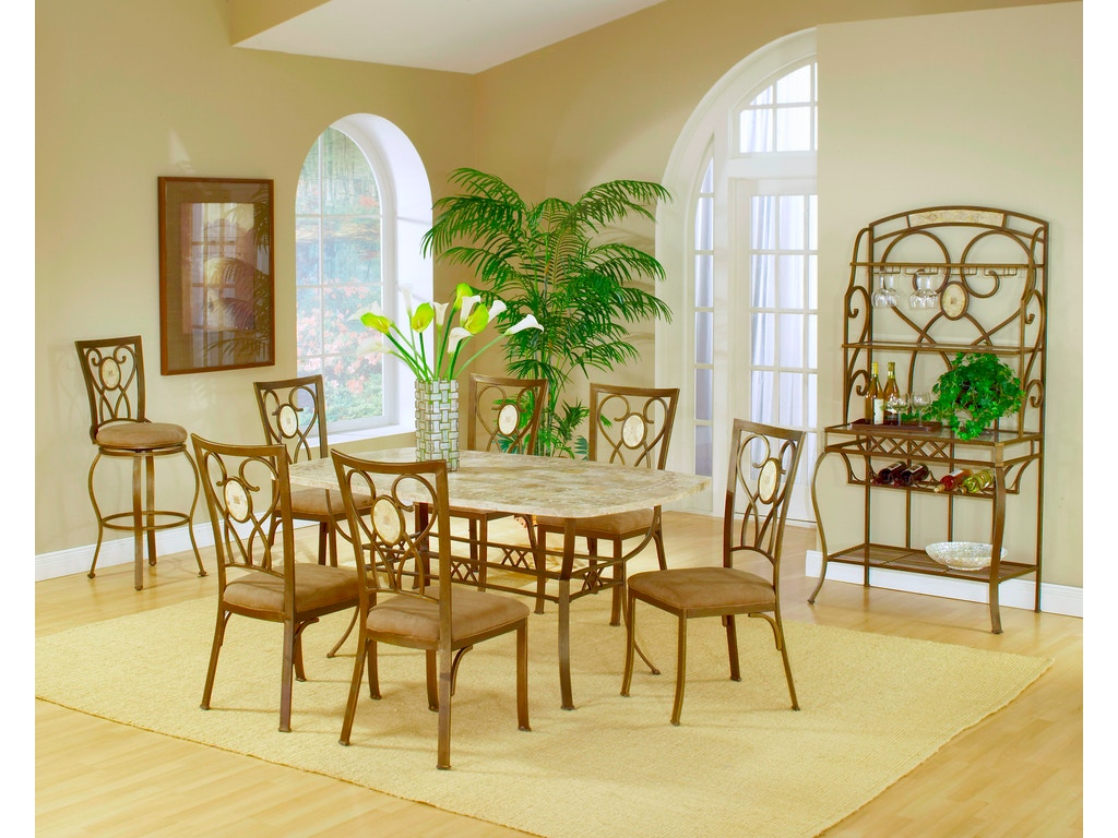 Hillsdale Furniture Dining Room Brookside 9 Piece Rectangle Dining ...