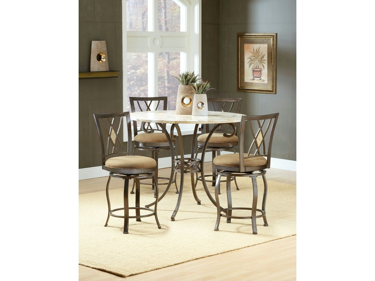 Awe Inspiring Hillsdale Furniture Bar And Game Room Brookside 5 Piece Andrewgaddart Wooden Chair Designs For Living Room Andrewgaddartcom