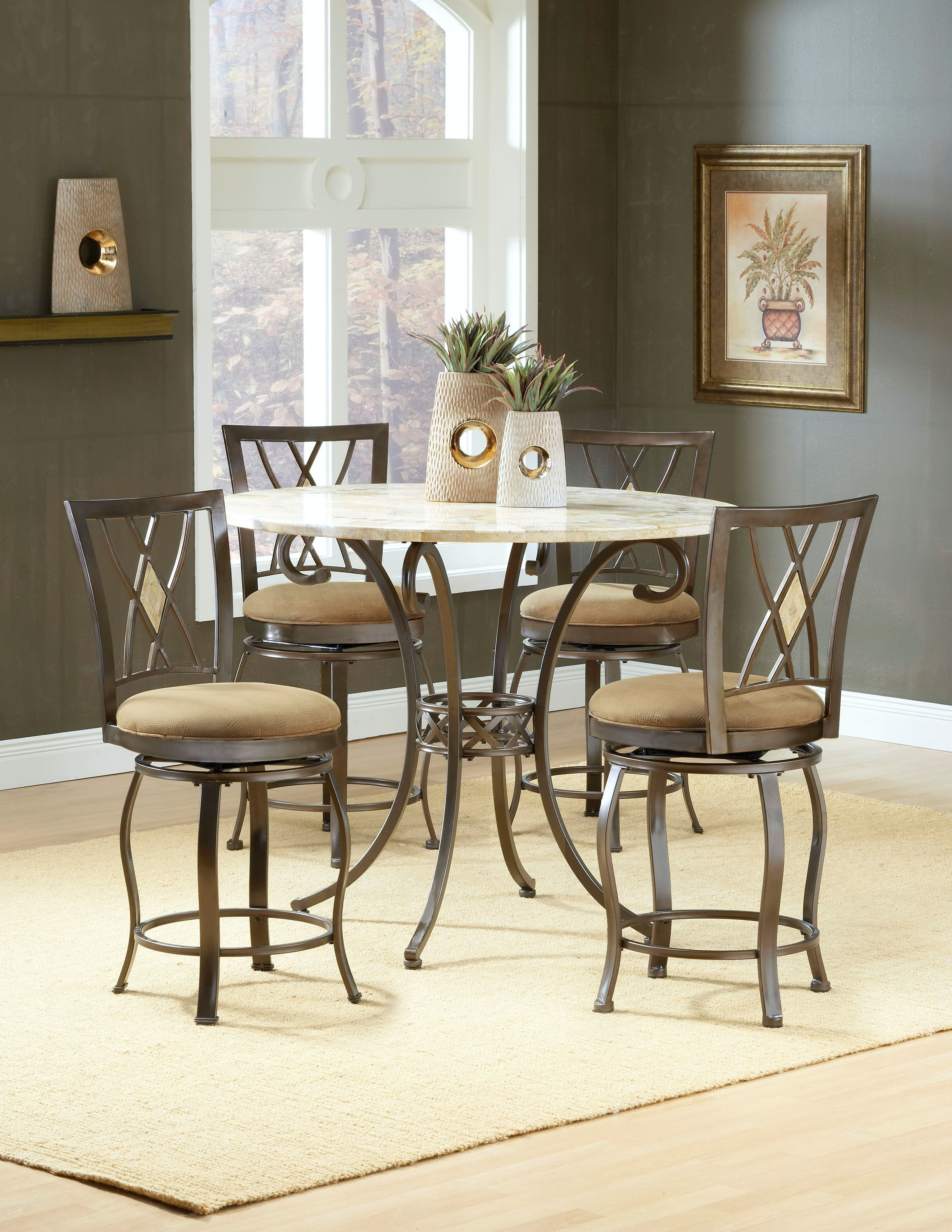 Hillsdale Furniture Bar And Game Room Brookside Counter Height Dining Table    Base 4815 835 At Daws Home Furnishings