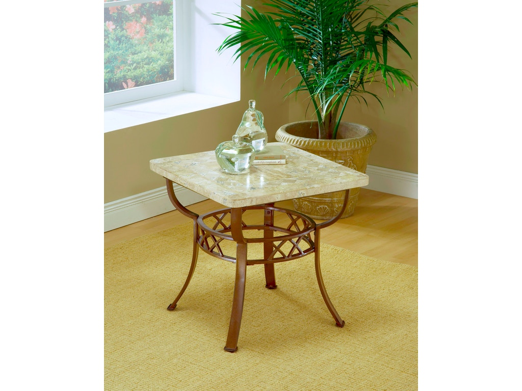 Hillsdale furniture living room brookside fossil end table 4815ote zing casual living naples - Living room furniture fort myers fl ...