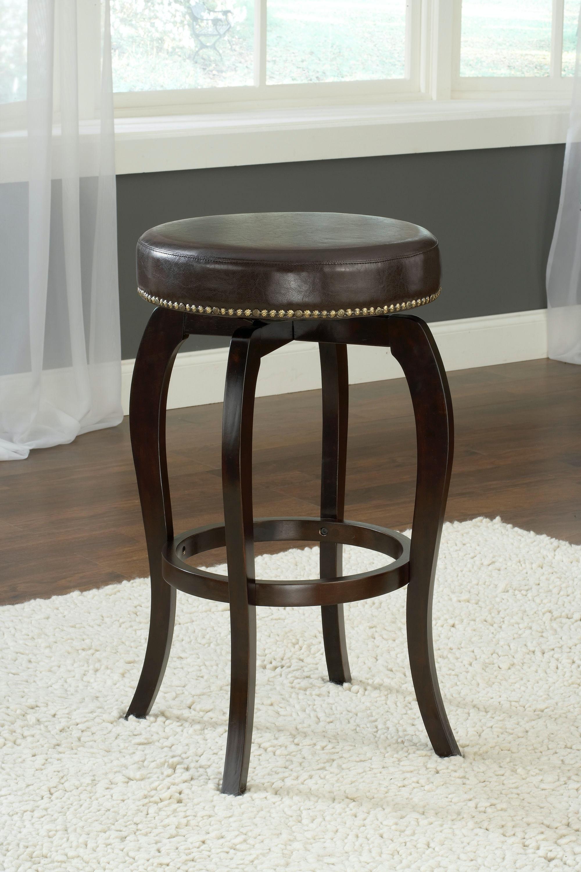 backless swivel counter stools. Hillsdale Furniture Wilmington Backless Swivel Counter Stool - Brown Vinyl 4933-828 Stools