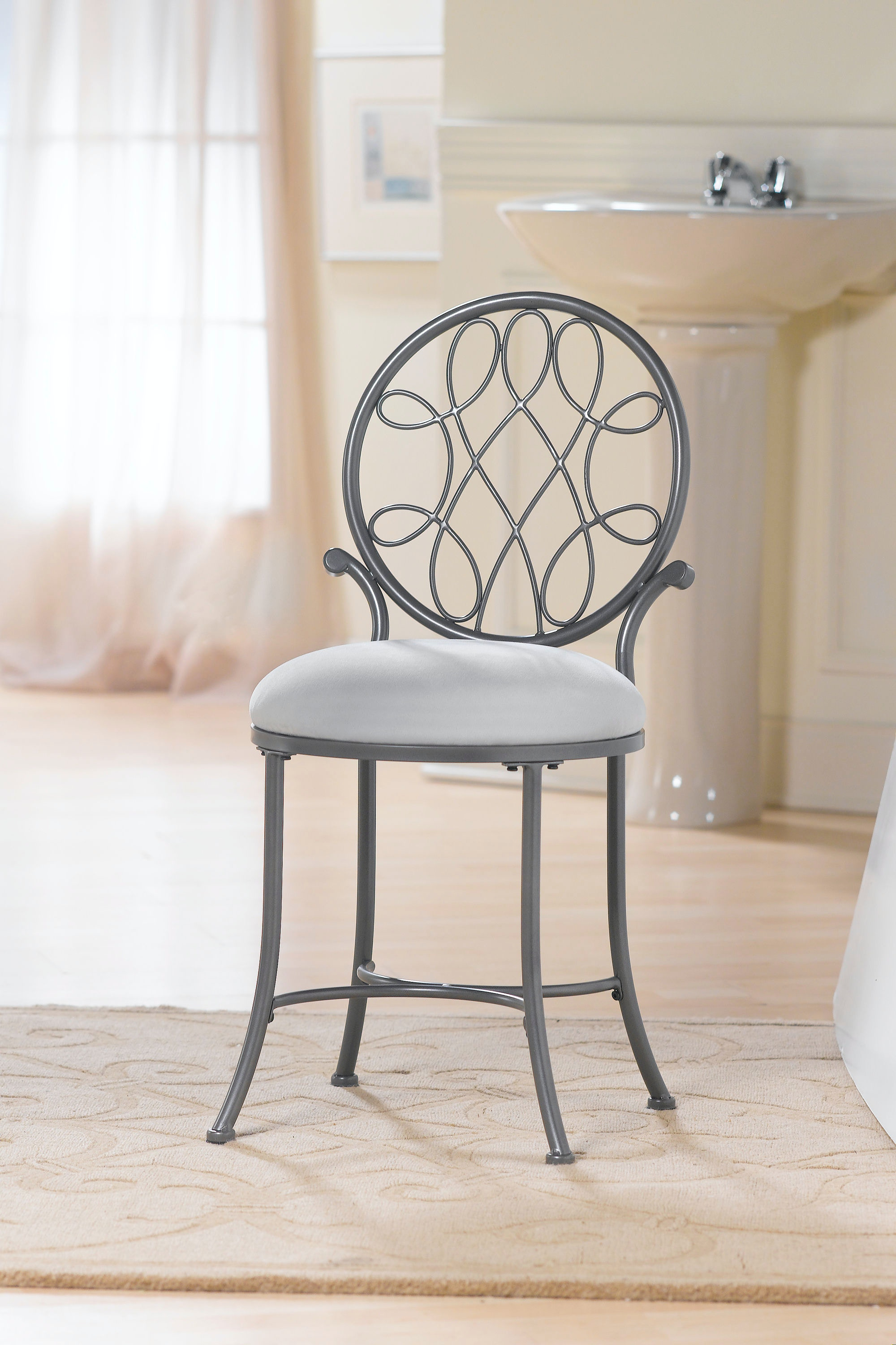 Hillsdale Furniture Bedroom Ou0026#39;Malley Vanity Stool 50946A   Furniture  Kingdom   Gainesville