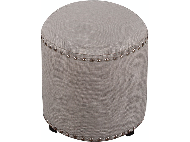 Laura Backless Vanity Stool Gray Fabric Hil50993