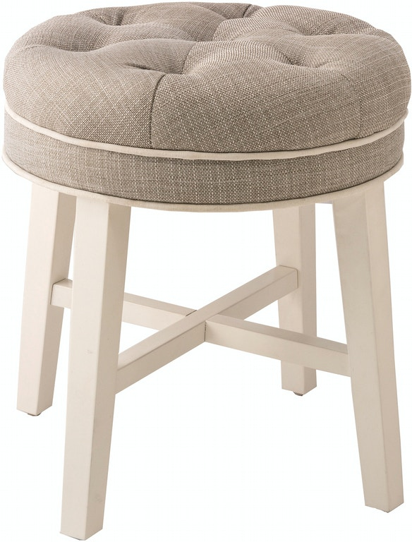 Hillsdale Furniture Bedroom Sophia Vanity Stool With Linen