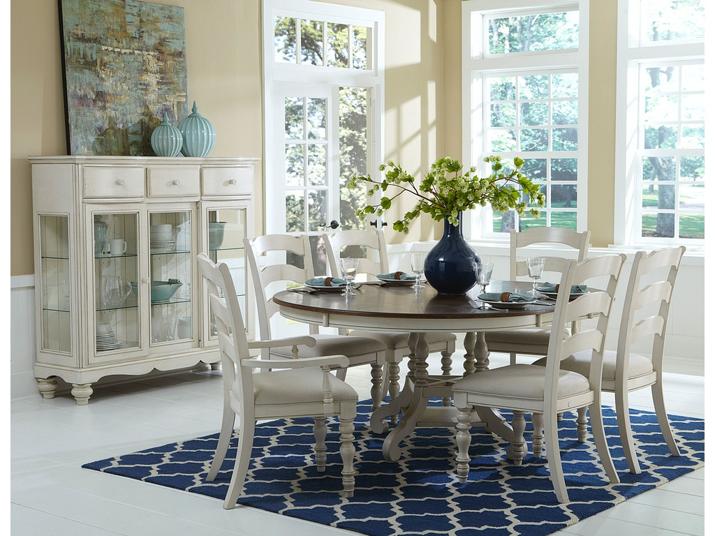 Hillsdale Furniture Dining Room Pine Island 7 PC Dining Set - with ...