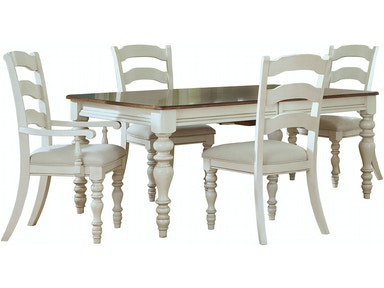 5265dtbrcl Pine Island 5 Pc Dining Set Antique