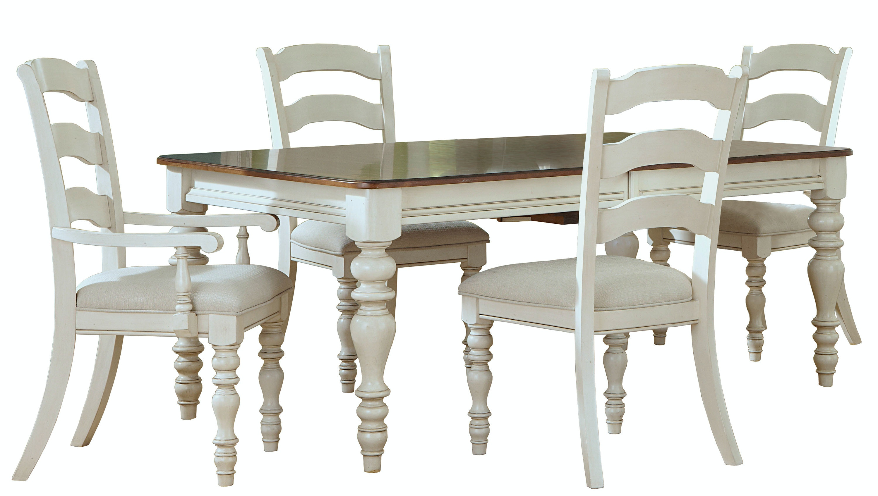 5265DTBRCL. Pine Island 5 PC Dining Set (Antique White ...