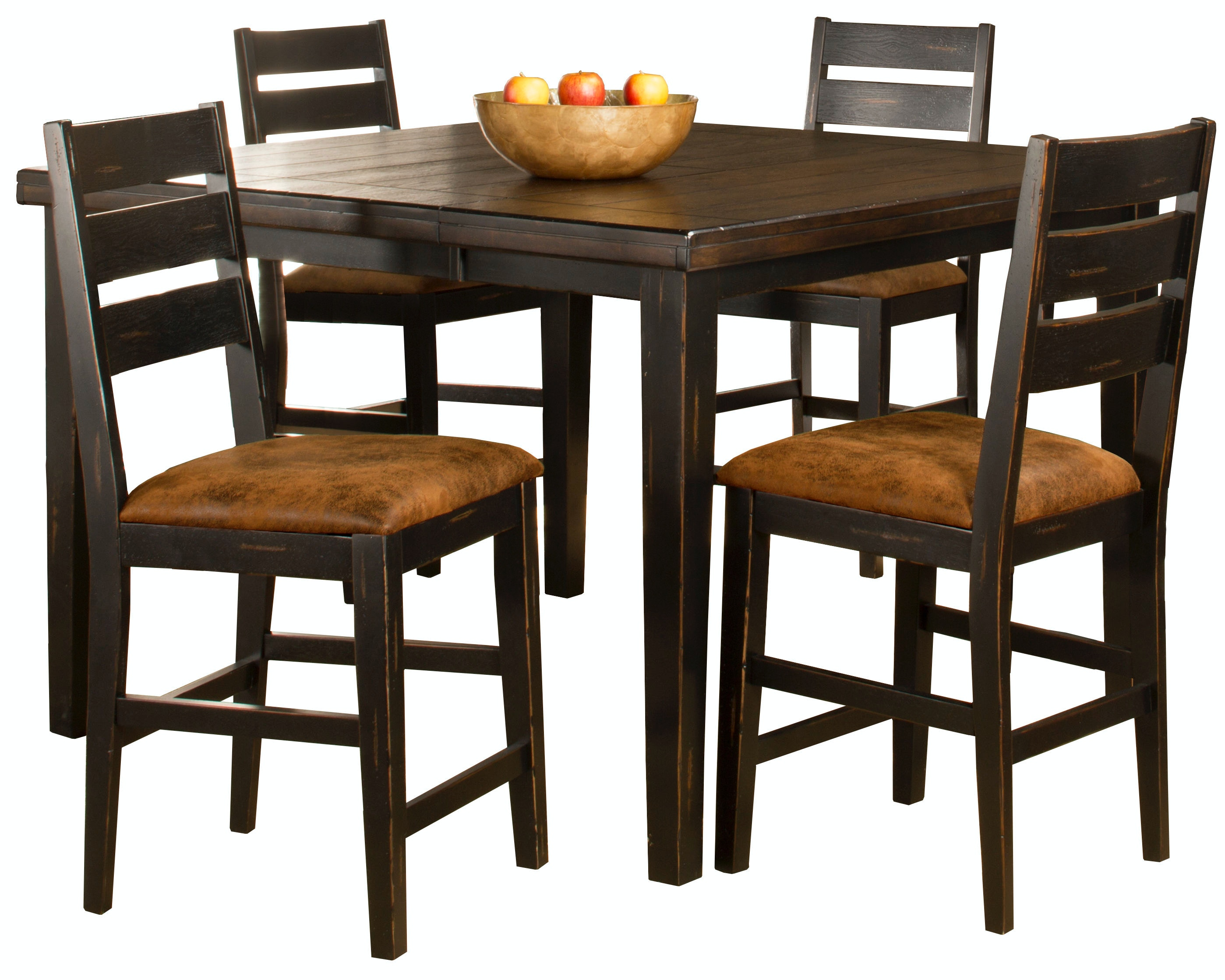 Hillsdale Furniture Bar And Game Room Killarney 5 Piece Counter Height  Dining With Ladder Back Stools 5381CTBSL5 At Alpena Furniture