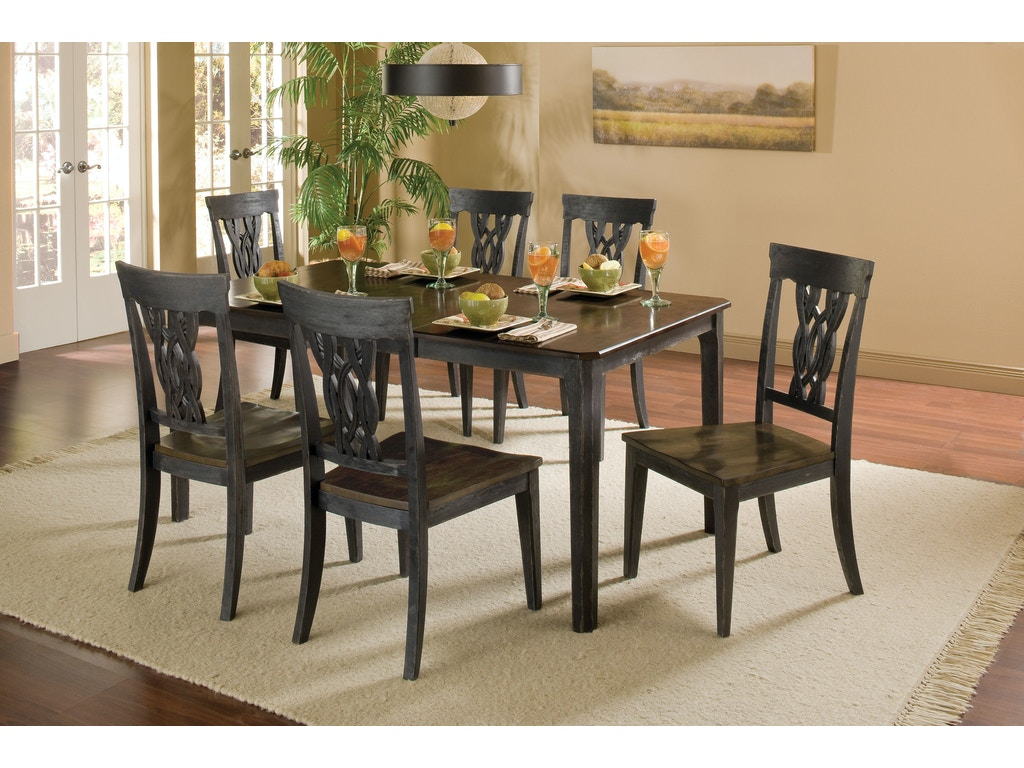 Pine island ladder back side chair set of 2 hil5265802 for Walter e smithe dining room sets