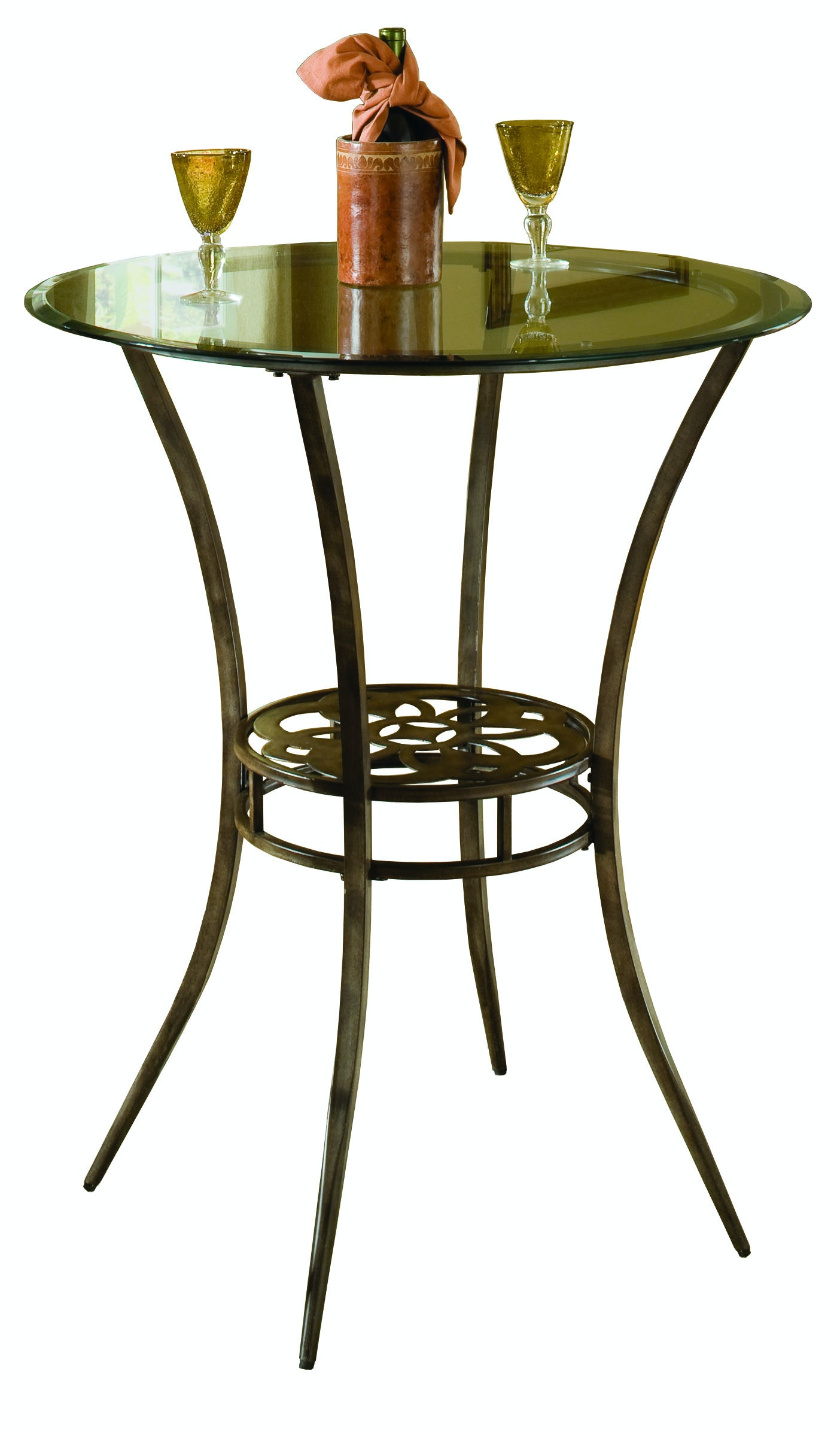 Hillsdale Furniture Marsala Bar Height Bistro Table   Glass Top (8MM)  HIL5435840 From Walter