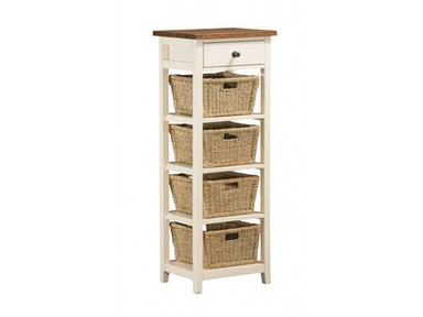 Hillsdale Furniture Tuscan Retreat® (4) Four Basket, 1 Drawer Open Side Stand 5465-942W