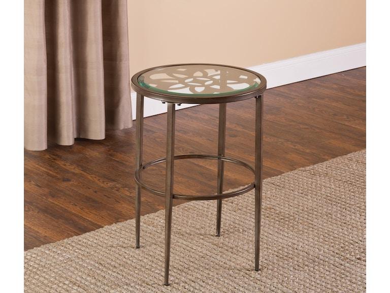 hillsdale furniture living room marsala end table 5497 880