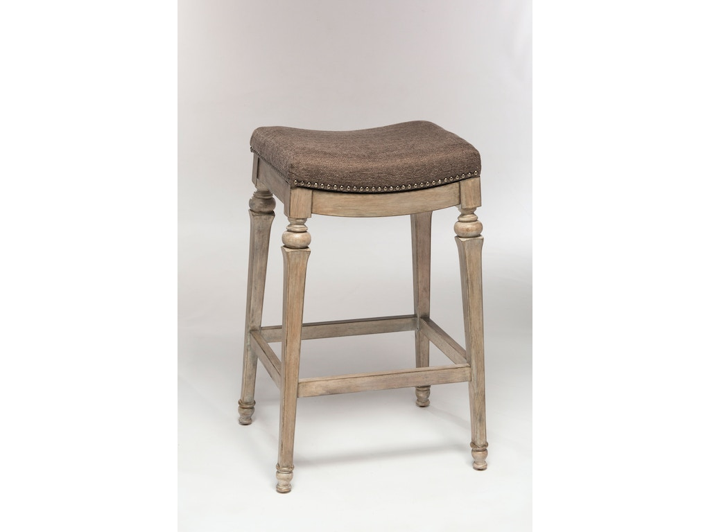 Hillsdale Furniture Bar And Game Room Vetrina Backless Non Swivel Counter Stool With Gray Fabric