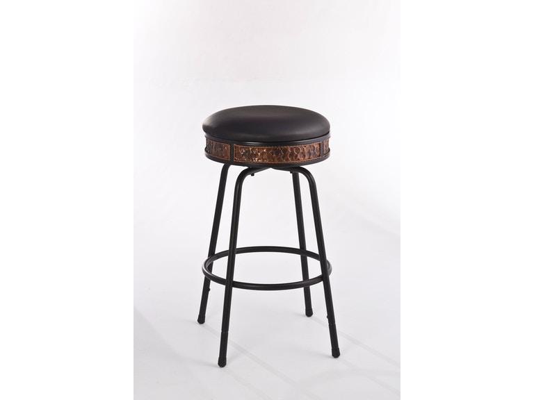 179ae611ac2b19 Hillsdale Furniture Bar and Game Room Howard Backless Metal Adjustable  Barstool - Nested Leg