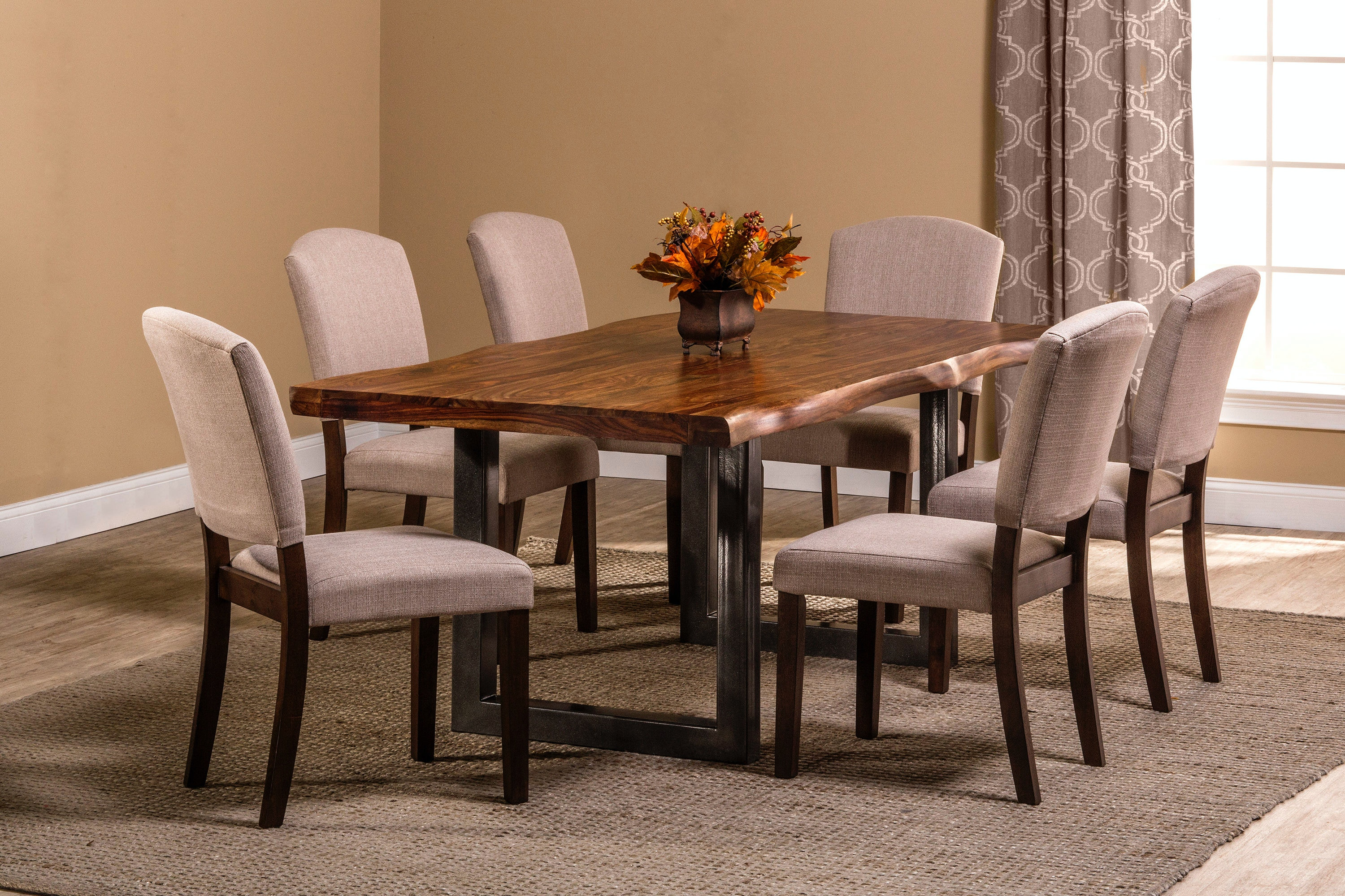 Hillsdale Furniture Emerson Rectangle Dining Table   Natural Sheesham 5674DT