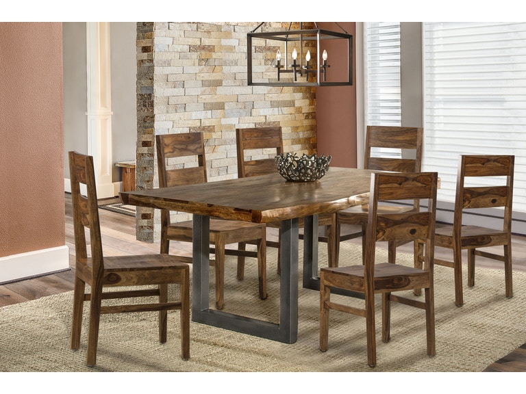 Hillsdale Furniture Dining Room Emerson 7 Piece Rectangle Set With Wood Chairs