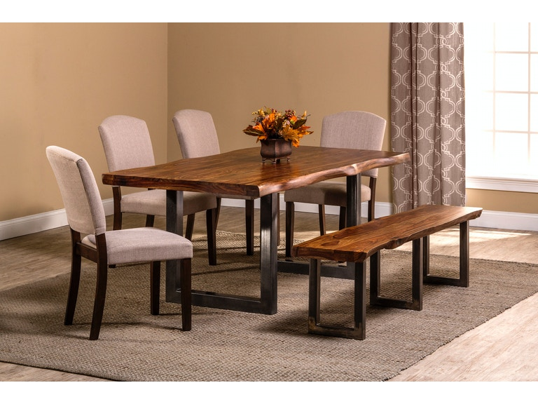 Hillsdale Furniture Dining Room Emerson 6 Piece Rectangle Set With One 1 Bench And Four 4 Chairs