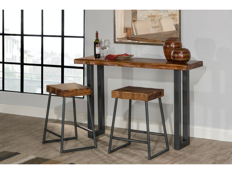 Hilale Furniture Bar And Room Emerson Sofa Table 2 Non Swivel Counter Stools 5674sts At Budget