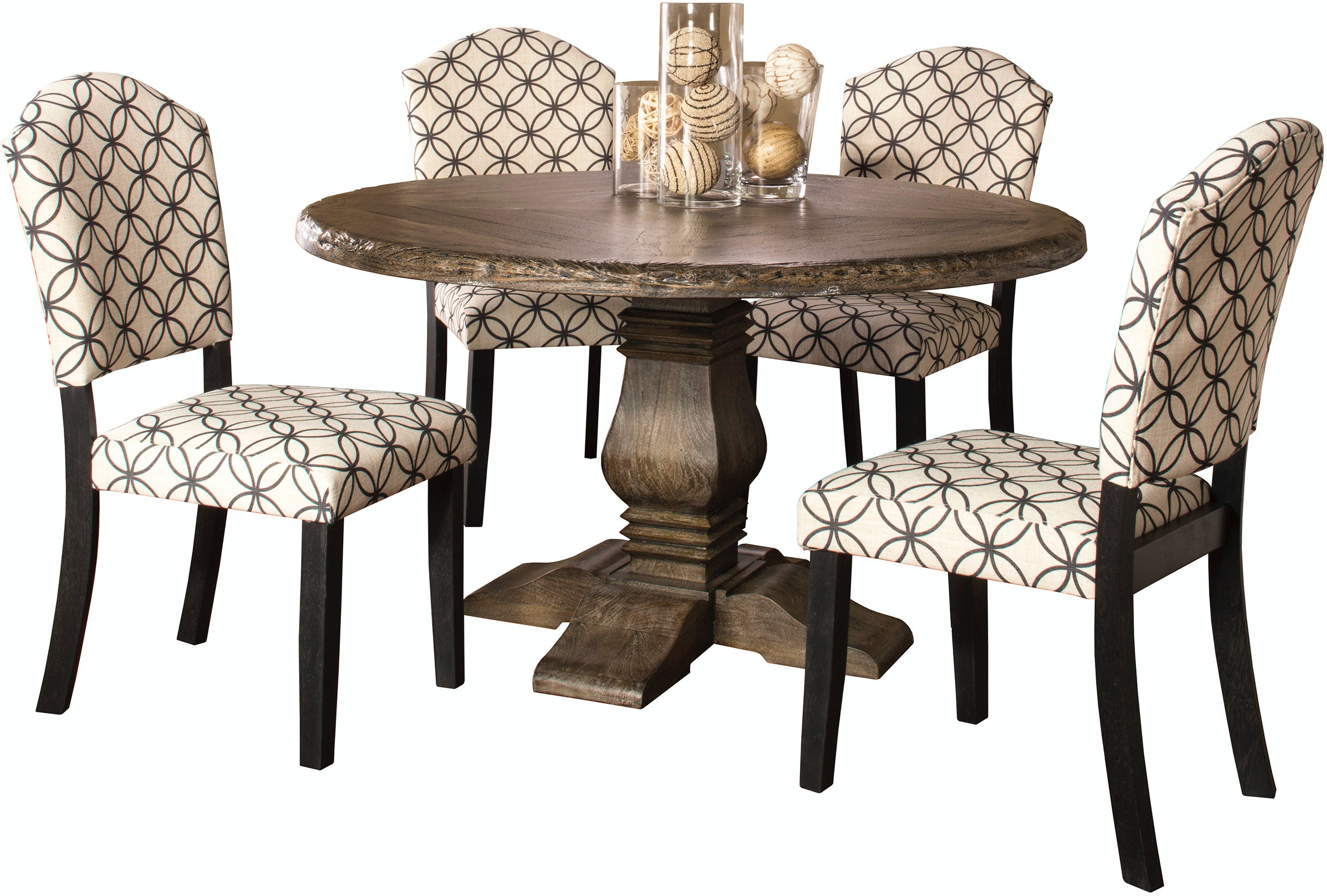 Hillsdale Furniture Dining Room Lorient 39-Piece Round Dining Set ... | parsons furniture nh