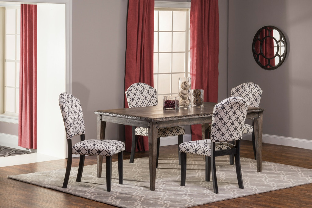 Hillsdale Furniture Dining Room Lorient 5 Piece Rectangle