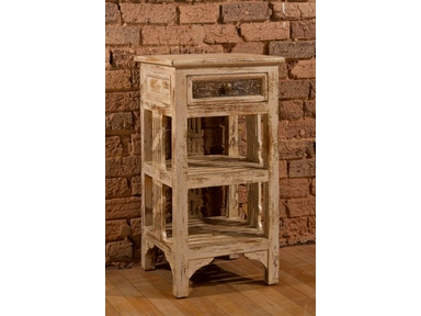 Hillsdale Furniture Alena Accent Stand - Distressed Whitewash Finish 5727-900
