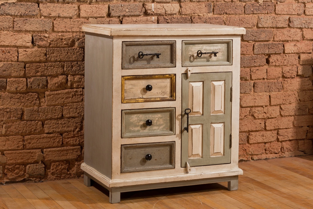 Hilale Furniture Living Room Larose 5 Five Drawer Accent Cabinet With Solid Wood Door 5732 883 At Love S Bedding And