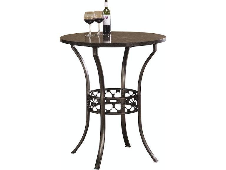 Hilale Furniture Brescello Bar Height Bistro Table 5752ptb