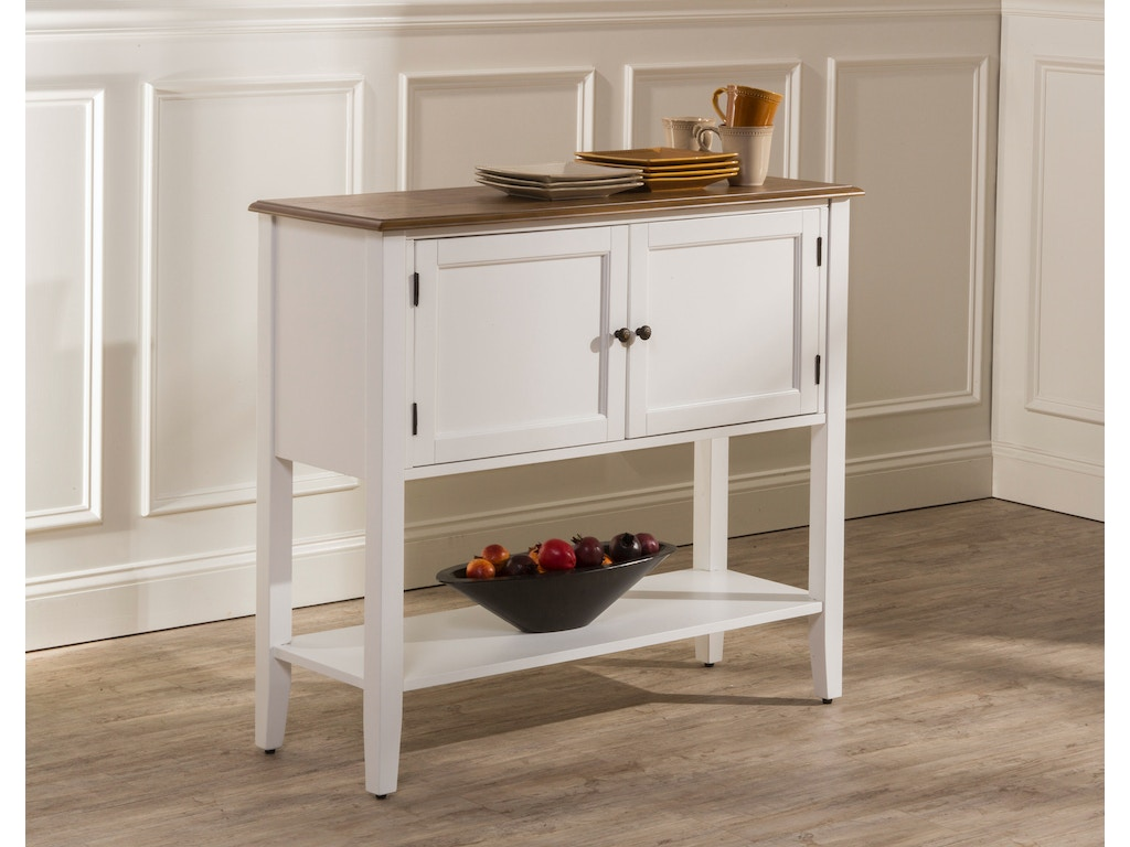 Bayberry embassy server white hil5791850 for Walter e smithe dining room sets