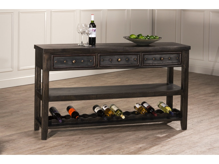 Hilale Furniture Bolt Console Table With Removable Wine Rack 5805 871