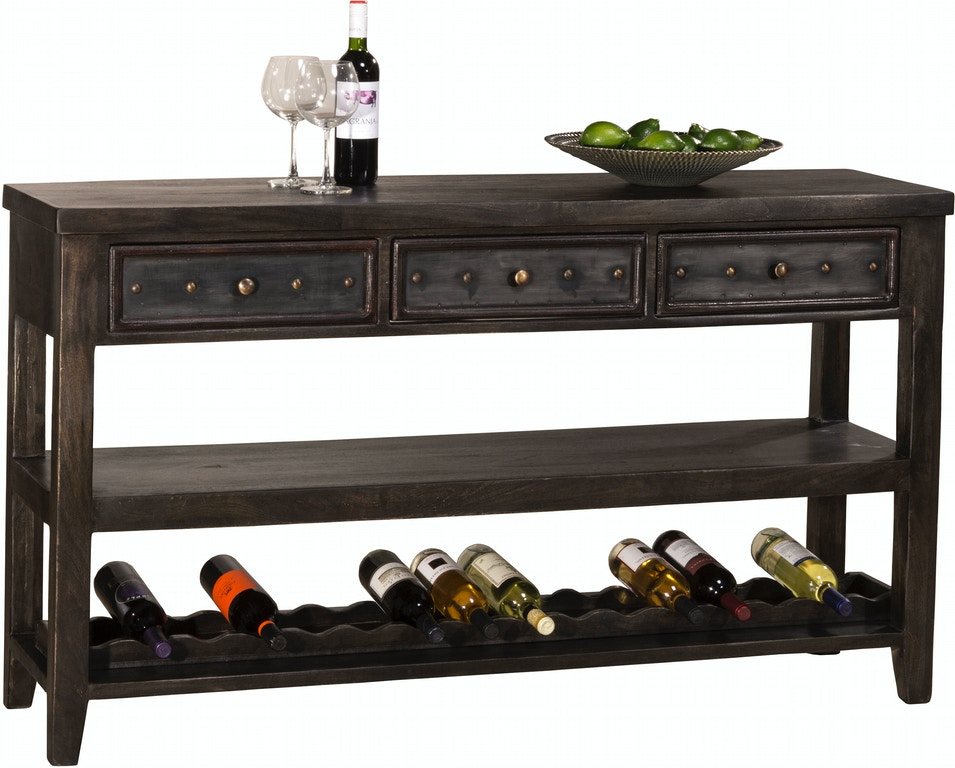 Hilale Furniture Bolt Console Table With Removable Wine Rack Hil5805871 From Walter E Smithe