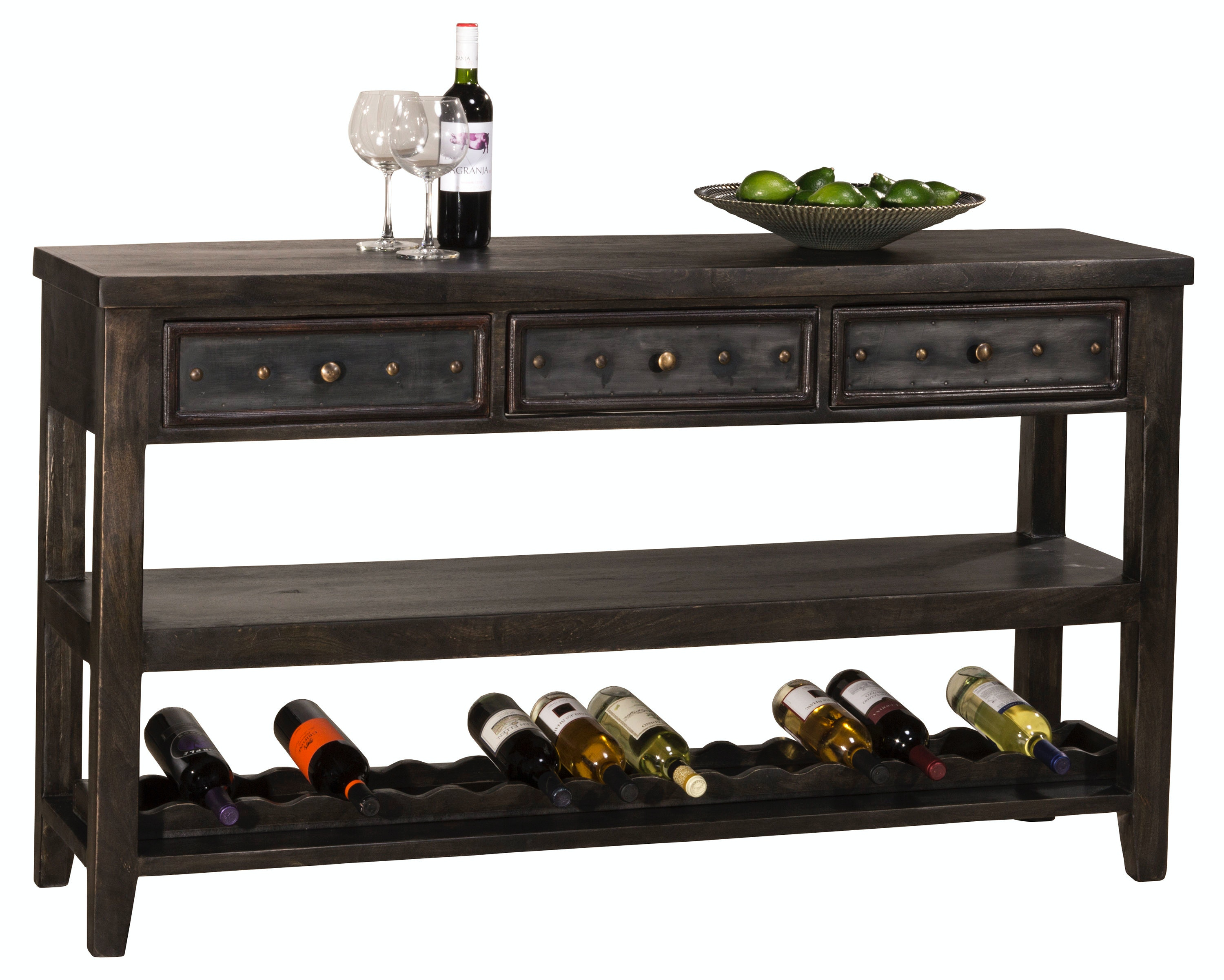 Hillsdale Furniture Bolt Console Table With Removable Wine Rack HIL5805871  From Walter E. Smithe Furniture