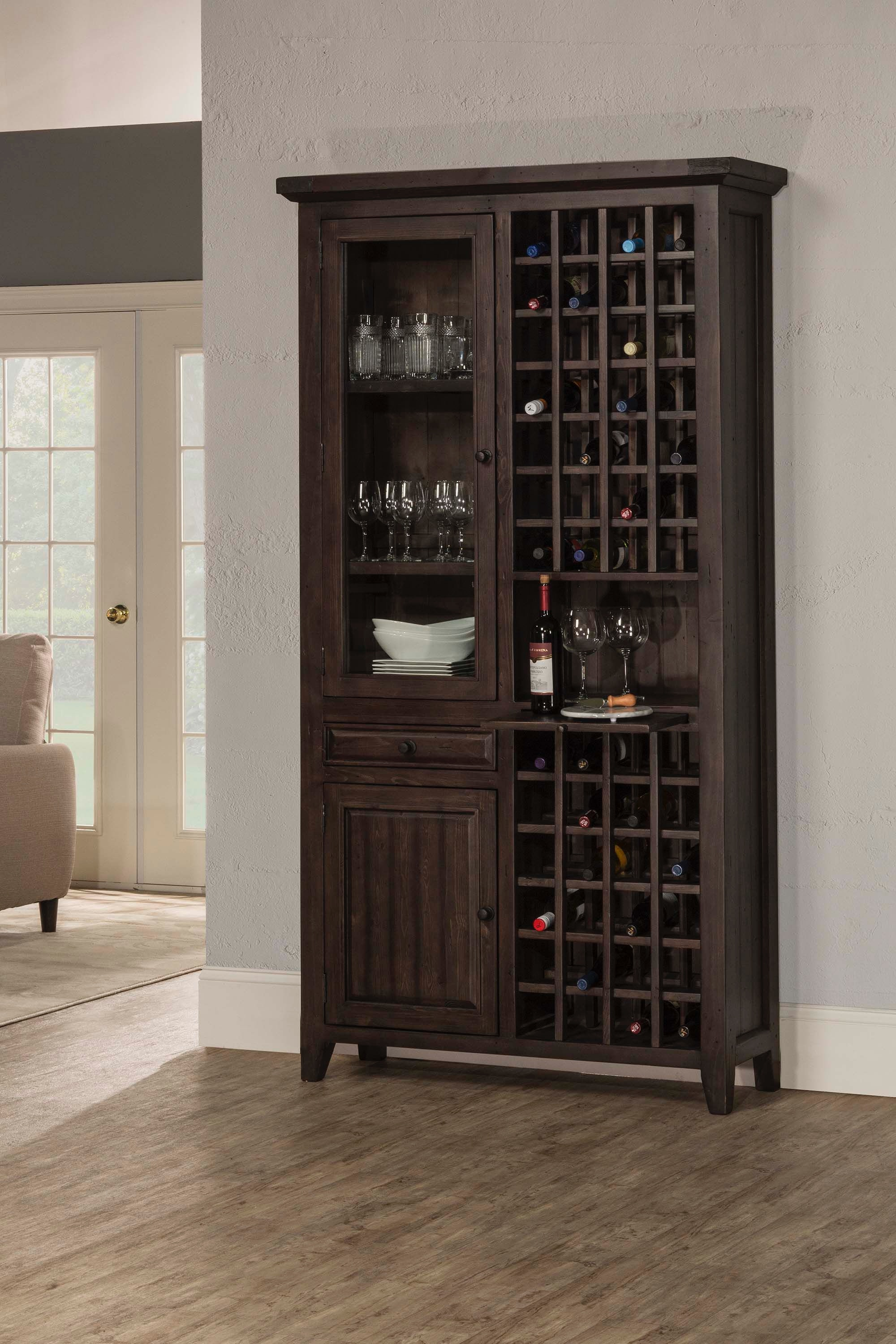 dining room cabinets winner furniture louisville owensboro hillsdale furniture tuscan retreat tall wine storage 5823 949w