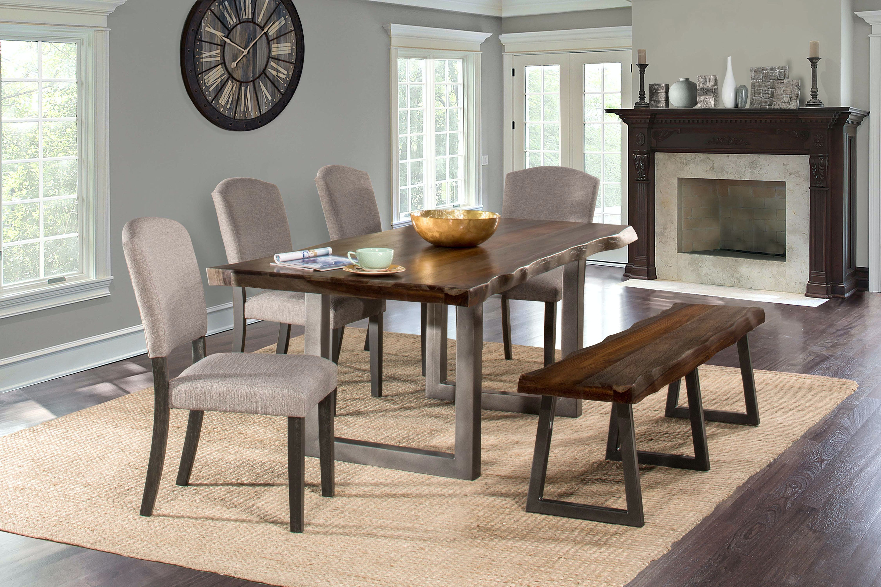 Hillsdale Furniture Emerson 6 Piece Rectangle Dining Set With One (1) Bench  And