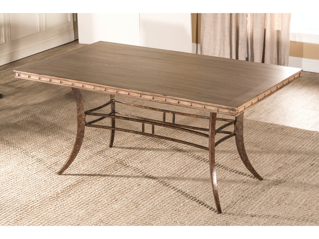 Emmons rectangle dining table hil5984814 for Walter e smithe dining room sets