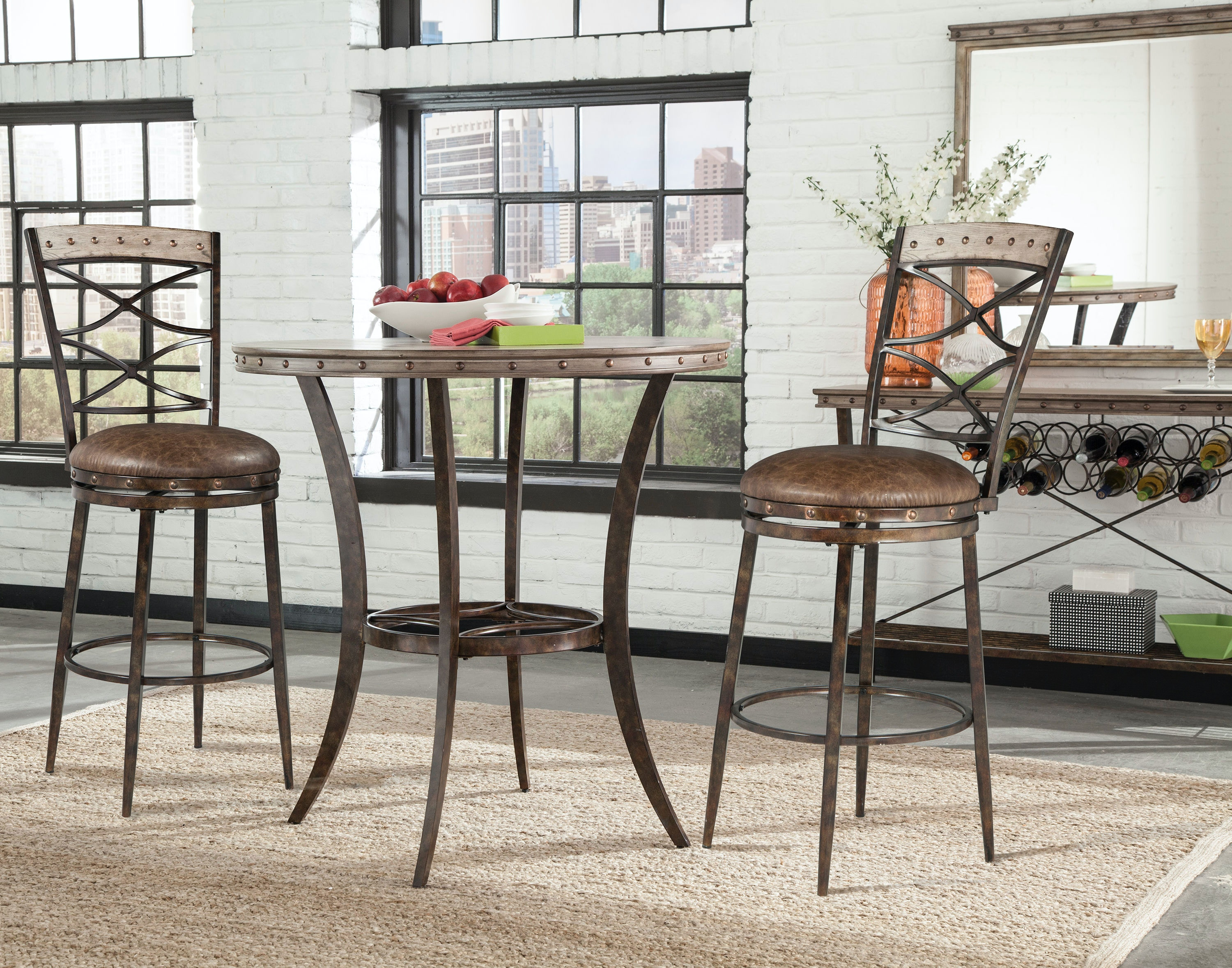 Hillsdale Furniture Emmons 3 Piece Bar Height Bistro Dining Set 5984BTS