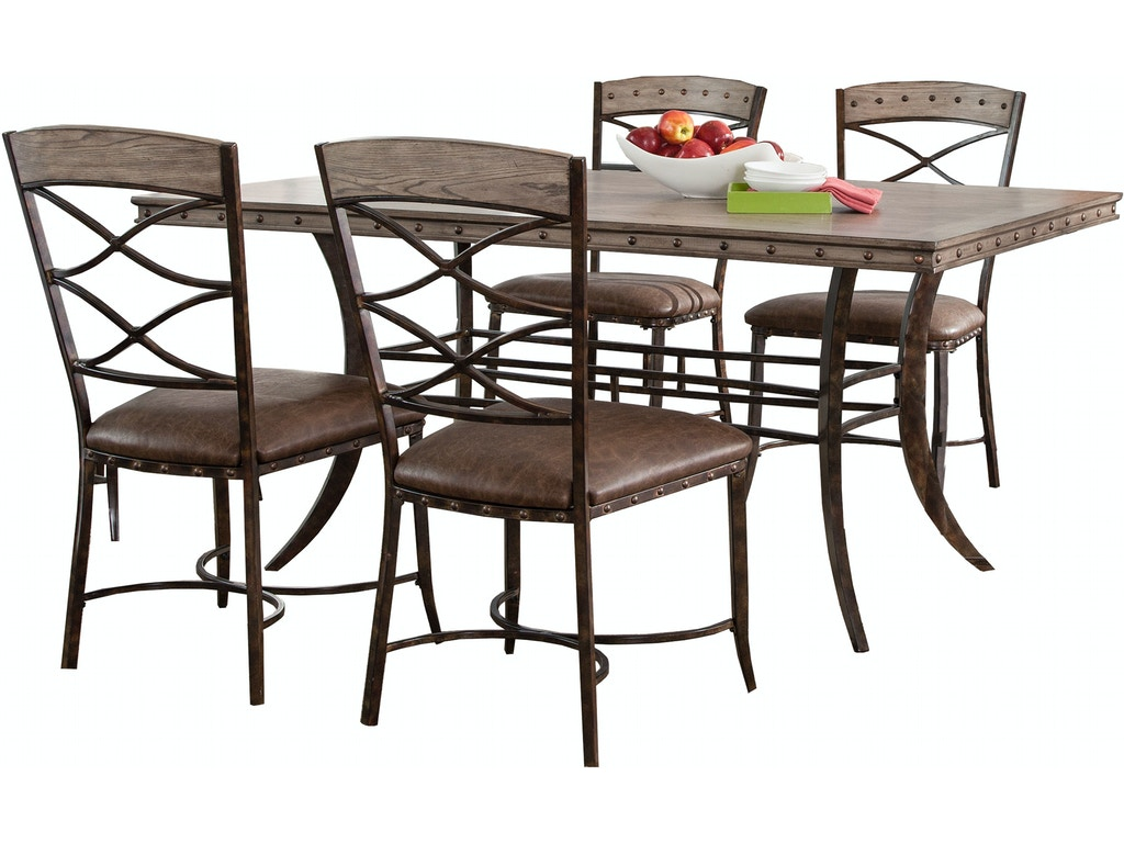 Hillsdale furniture dining room emmons 5 piece rectangle for 5 dining room chairs