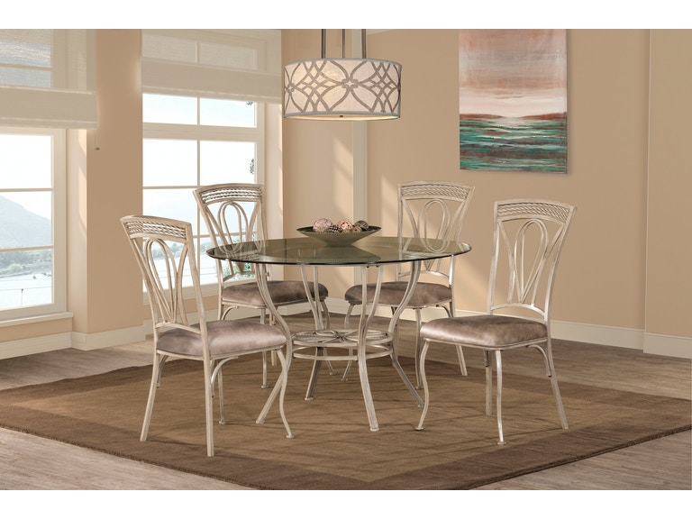 Hillsdale Furniture Napier 5 Piece Round Dining Table Set 5986DTBS5