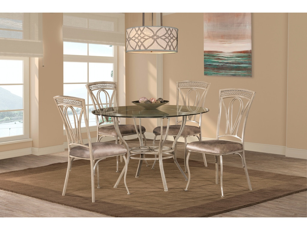 Hillsdale furniture dining room napier 5 piece round Seaside collection furniture