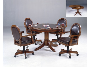 Hillsdale Furniture Warrington Game Table: Poker, Checkers, and Chess 6125-810